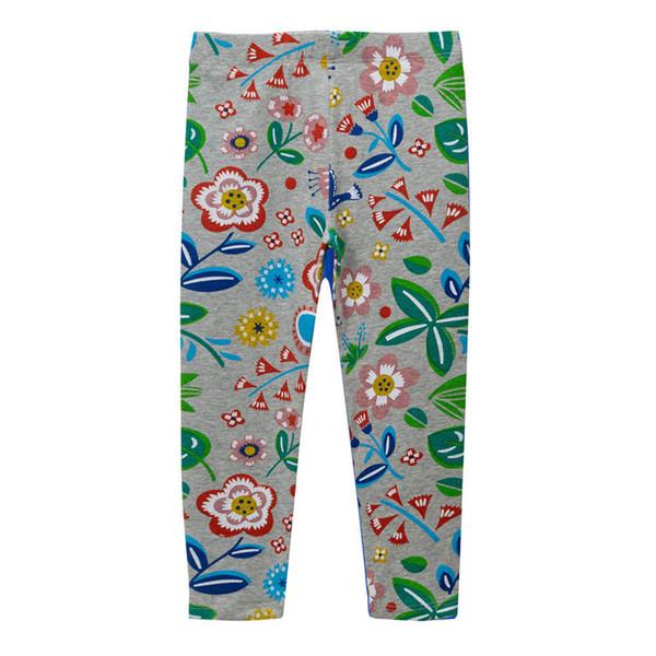 Baby Girls printing Flower Toddler Classic Kids Leggings Children pant 2-7 Years cute girl leggings #1092