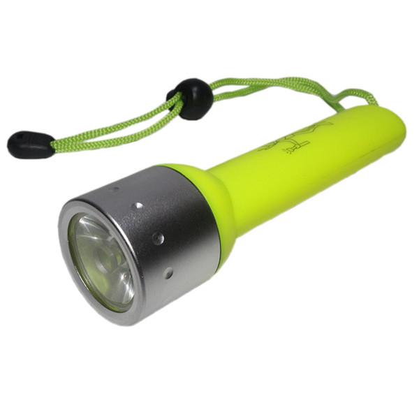 818 Lanterna Para Mergulho 1 Modo de 120 Lumen Q5 LEVOU Tocha Subaquática Com Amarelo Preto Vermelho Azul