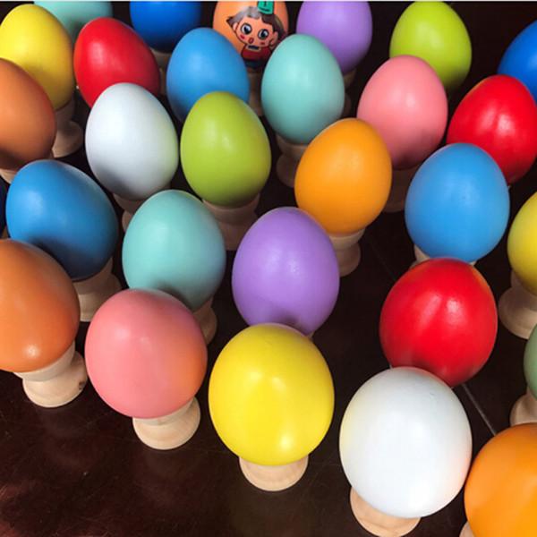 Ovos de madeira diy pintura cores de madeira de alta qualidade brinquedos infantis simulação de ovos ultra realistas graffiti brinquedos venda quente