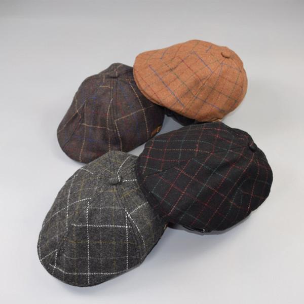 Toddler Baby Beret Hat for Kids Boys Girls Infant Winter Plaid Ivy Flat Cap