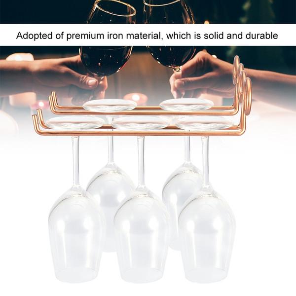 TOPINCN Wine Glass Cup Rack Holder Shelf Stemware Hanging For Kitchen Living Room Display Stand