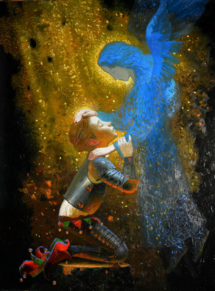 Wall Art Picture Victor Nizovtsev Oil Painting Fantasy Mermaid Art Reproduction Printed On Canvas Modern Living Room Bedroom Home Decor N140
