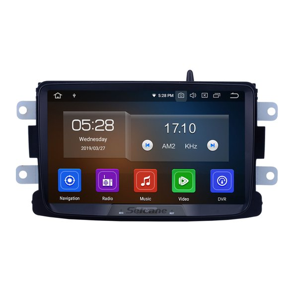 8 Inch Android 9.0 HD 1024*600 touch screen Car Stereo GPS Navigation for 2014-2016 RENAULT Duster Deckless with Bluetooth support car dvd