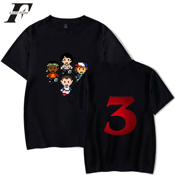2019 Stranger Things Season 3 Hip Hop Tees Harajuku T-shirts Men Clothes Tops Casual Kpop Print Plus Size 4XL