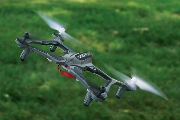Dromida Vista UAV 251 mm Quadcopter / Drone RED RTF w/ Extra Blades DIDE03RR