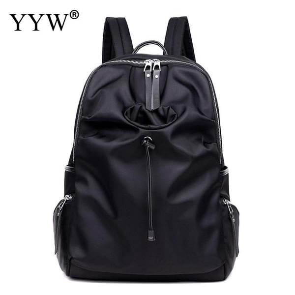 Sacchetti di scuola alla moda Diverse dimensioni bagpack donne stile coreano Nero Solid zaino college impermeabile