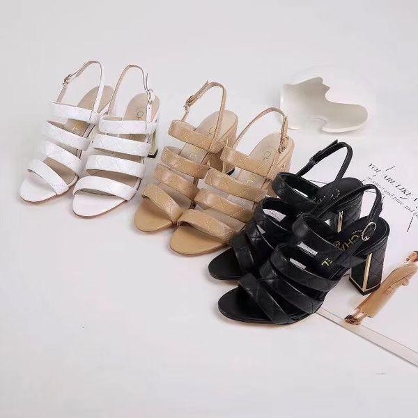 C sandalo donna sandali in vera pelle perla tacco alto sandali con plateau sandali unisex outdoor da spiaggia infradito 3 colori