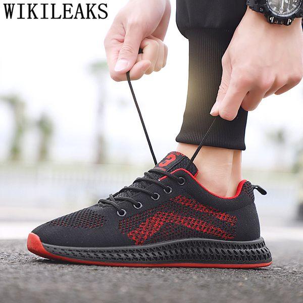 c81148edf Mens sapatos casuais sapatos de malha homens 2019 heren sneakers homens  respirável verão preto tênis tenis
