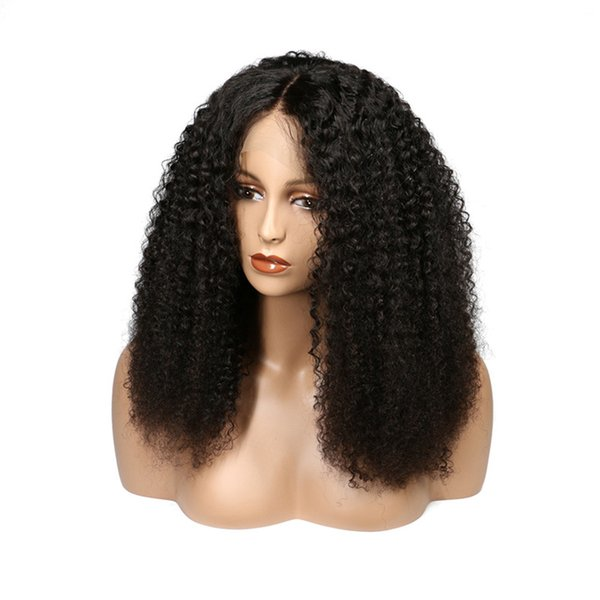 "8A Brazilian Human Hair Wigs 8-26"" Kinky Curly lace front wigs top quality Wigs Brazilian Hair Swiss Lace Cap Straight"