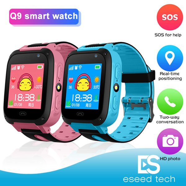 Q9 smart watch kinder armbanduhr wasserdicht baby uhr mit fernbedienung kamera sim ruft geschenk für kinder pk dz09 a1 smartwatch