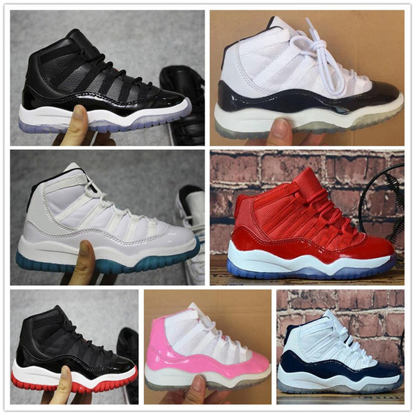 Kids 11 11s Space Jam Bred Concord Gym Red Basketball Shoes Children Boy Girls Youth White Pink Midnight Navy Sports Sneakers Best Quality