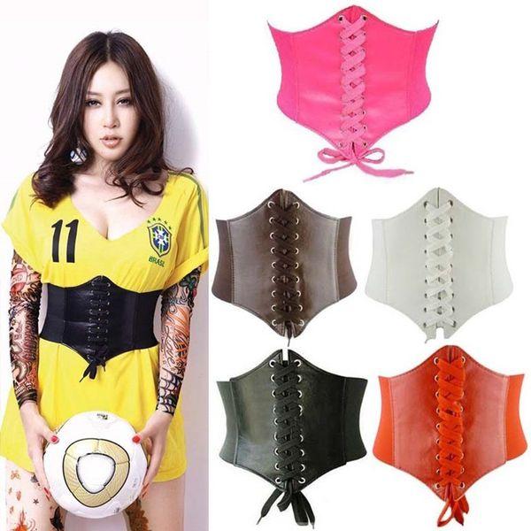 2019 Corset Wide Pu Leather Slimming Body for women Elastic High Waist Belts cinto sobretudo feminin ceinture femme fajas C19010301