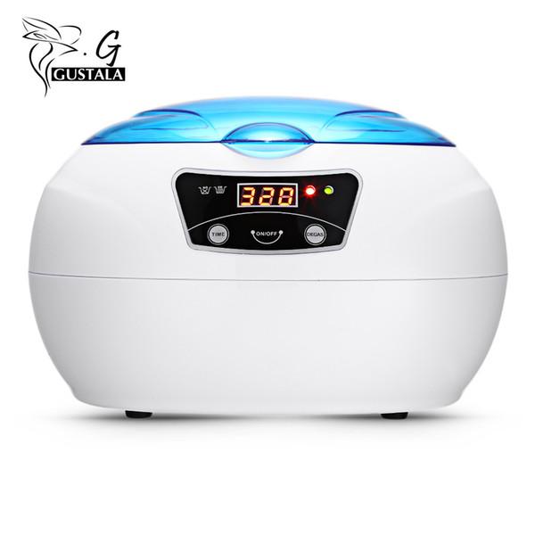 Gustala 600ML Pro Limpiador ultrasónico Generador ultrasónico Herramientas de manicura de uñas Lavadora de ultrasonido portátil Máquina de limpieza