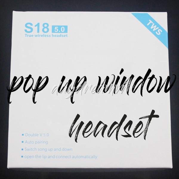 S18 Bluetooth Wireless Headphones Earphones Colorful Sport Headset Pop Up Window Music Earbuds For laptop iphone huawei Samsung sony xiaomi