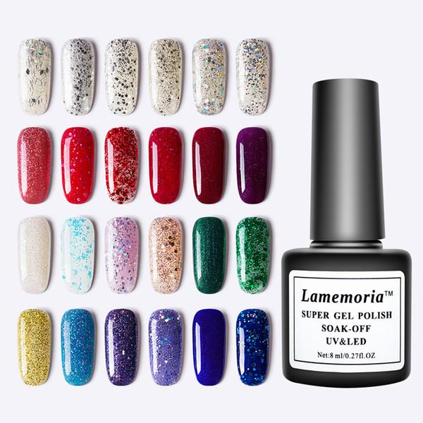 60 цветов гель лак для ногтей замочить от маникюра высокая Quanlity блеск лак DIY гибридный лак для ногтей украшения для ногтей салон