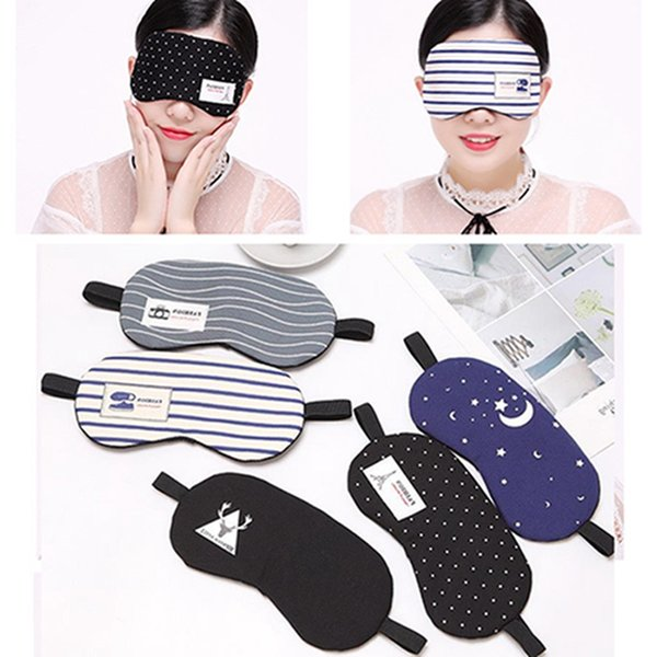 Creative Cotton Linen Shading Reduce Pressure Sleeping Eye Mask With Ice Pack Soft Breathable Men Women Sleep Protective Eye Mask DH1056 T03
