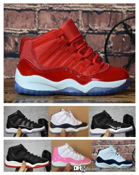 1 cair 11 JORDAN 11 11s men Space Jam Bred Concord Gym Red Basketball Shoes Children Boy Girls White Pink Midnight Navy Sneakers Toddlers 66