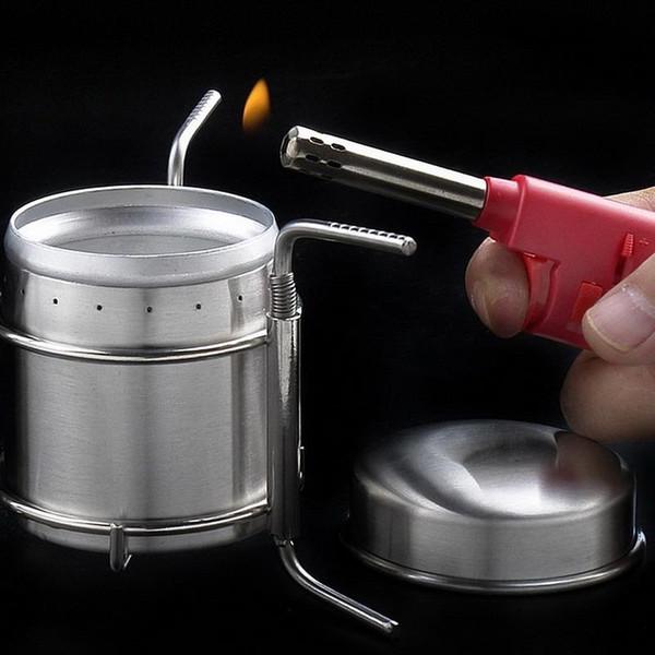 Atacado-Portátil Fogões Ao Ar Livre de Aço Inoxidável Mini Ultra-leve Queimador de Espírito Fogão de Álcool Fogão de Acampamento Forno