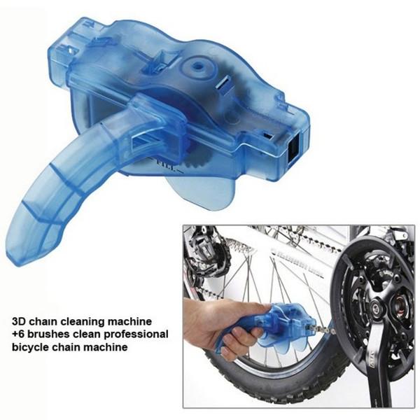 Plastique vélo chaîne 3D rapide Cleaner vélo propre réparation machine à vélo Décontamination Brosses Scrubber lavage outil bleu 4 6bf B