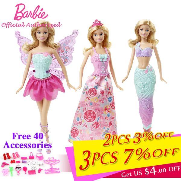 Compre Barbie Marca Colección Muñeca Cuento De Hadas Hermoso Bebé Juguete De Vestir Mariposa Barbie Boneca Modo Dhc39 Para Niños Presentes A 7499