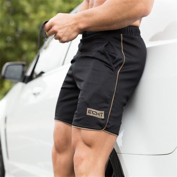 2017 New Gyms Sporting Shorts men bermuda Men's Short homme 4 Models Casual brand clothing Letter Elastic Waist Gyms ShortsM-XXL