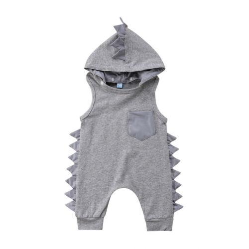 0-3T recién nacido niños bebé niño niña dinosaurio con capucha mameluco pantalones trajes ropa