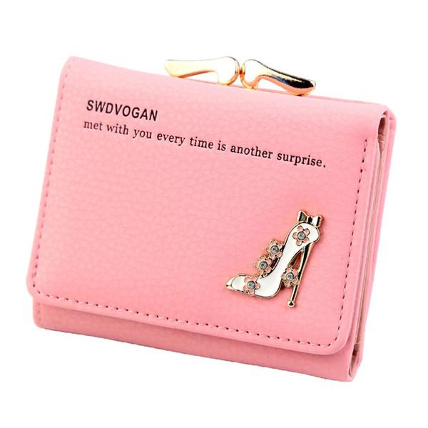 portefeuille femme portefeuille femme modèle court talon haut femmes portefeuilles portefeuilles sacs à main carte d'embrayage cartera mujer