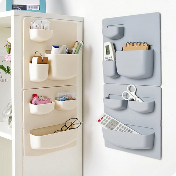 Wall Mounted Kitchen Storage Shelf Sundries Organizer Rack Sponge Holder Bathroom Accessories Plastic Wall Shelves for