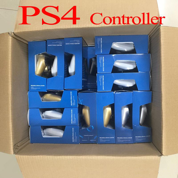 top popular SHOCK 4 Wireless Controller TOP quality Gamepad for PS4 Joystick with Retail package LOGO Game Controller Free DHL Fast Shipping 2020