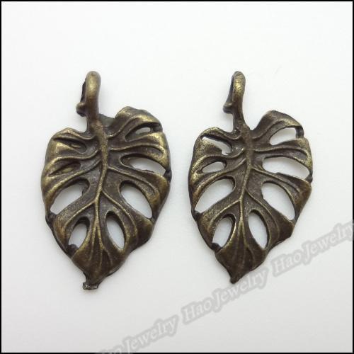 Accessoires Bijou Composants de Charms Vintage pendentif feuille Bracelets bronze antique Fit Collier bricolage Making Bijoux Métal
