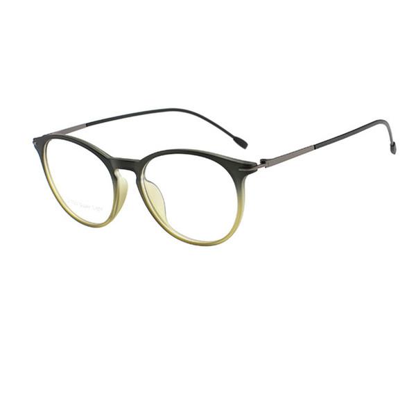 New Fashion TR90 Round Shape Man Woman Design Eyewear Super Light Thin Optical Frame Free Shipping Unique Metal Temples Glasses R983