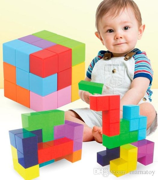 Baby Magnetic Building Blocks Magnet Cube Educational Learning Toys for BABY Toddlers best gifts for Christams Gifts