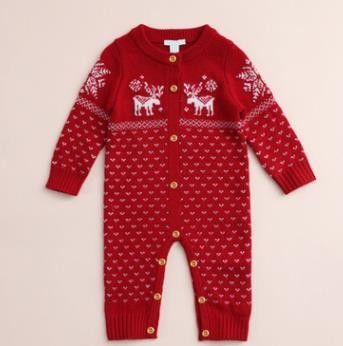 #2 Knitted Baby Romper
