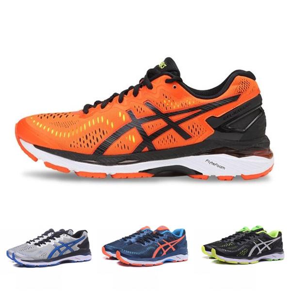 2019 Asics Gel-Kayano 23 T646N Herren Laufschuhe Orange Grau Grün Blau Schwarz Hochwertige Designer Schuhe Sport Sneakers 36-45