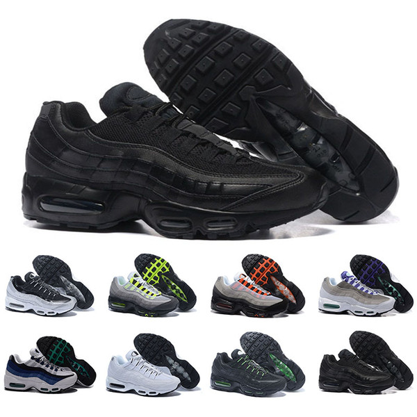 Compre Nike Air Max 95 20th Anniversary Zapatos Para Correr Para Hombre Solar Red Pull Tab Grape Patch Release Triple Black White S Trainers