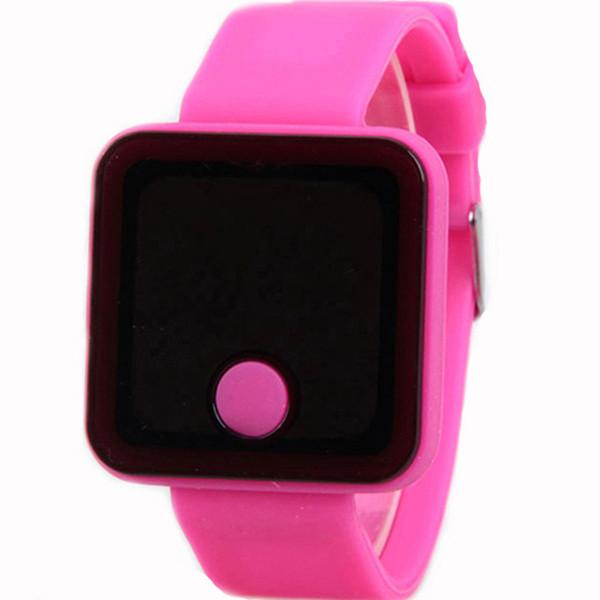 Relógio ultra-fino novo VN 68 do diodo emissor de luz do silicone dos homens dos relógios de pulso das crianças dos relógios de pulso da tela