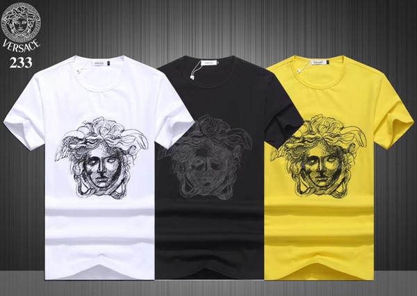 Verão T-shirt Top Designer de Moda Moda T-shirt Confortável Frete Grátis # 1116
