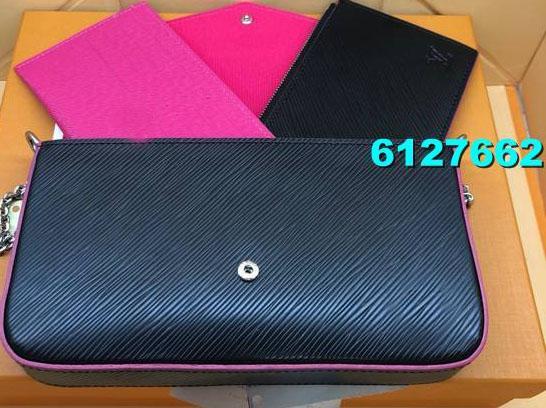 New Mulheres cadeia de bolsa Lady embreagem cartão da carteira bolsa três peças de alta qualidade PU Material de múltiplas cores e estilos