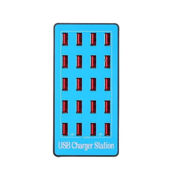 HUB USB 20 ports de charge intelligente USB multi répartiteur chargeur rapide station chargeur adaptateur secteur pour ordinateur portable