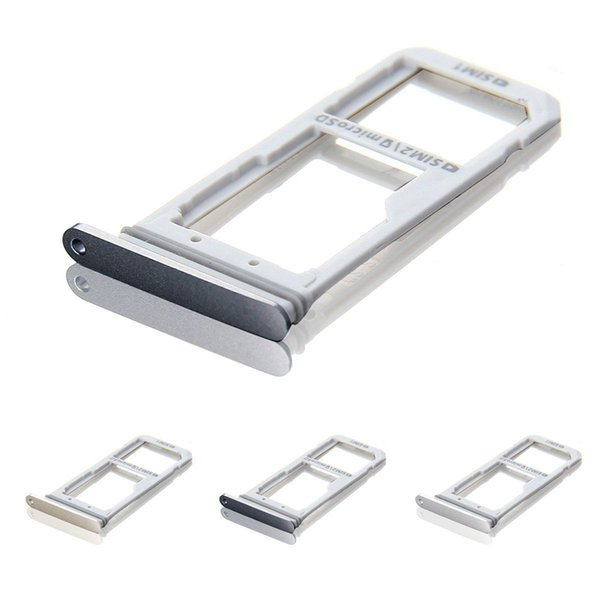 10pcs/lot NEW New Sim Micro SD Memory Card Tray Holde For Samsung Galaxy S7 G930F S7 edge G935F Replacement Parts (silver black gold)