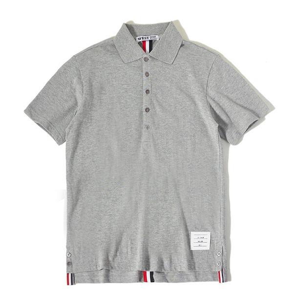 Высокая новая новинка мужчины панк классический полосатый звезды мода рубашки поло рубашка хип-хоп скейтборд хлопок Поло топ Tee #g99