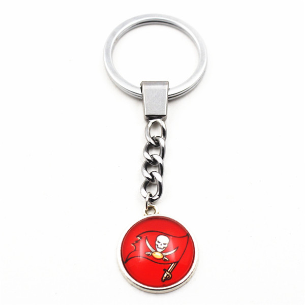 Hot Sale 10pcs/lot I Love Football Team Sports Keychains Pendant Silver Key Chains Key Ring Jewelry