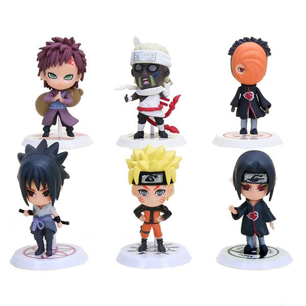 oys Hobbies Action Toy Figures 6pcs/set Naruto Sasuke Yondaime Minato Kyuubi Kurama Gaara Itachi Obito Madara PVC Action Figure Toys Full...