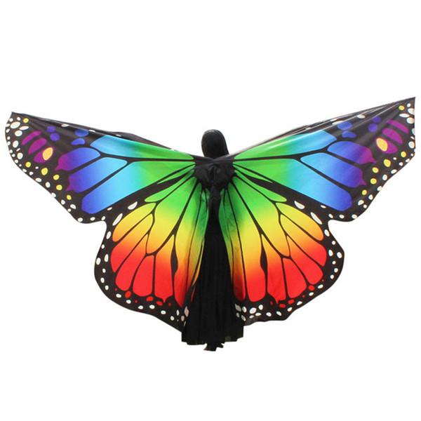 Neue Frauen Ägypten Bauchflügel Tanzen Kostüm Schmetterlingsflügel Tanz Zubehör Keine Stöcke Zubehör Schal