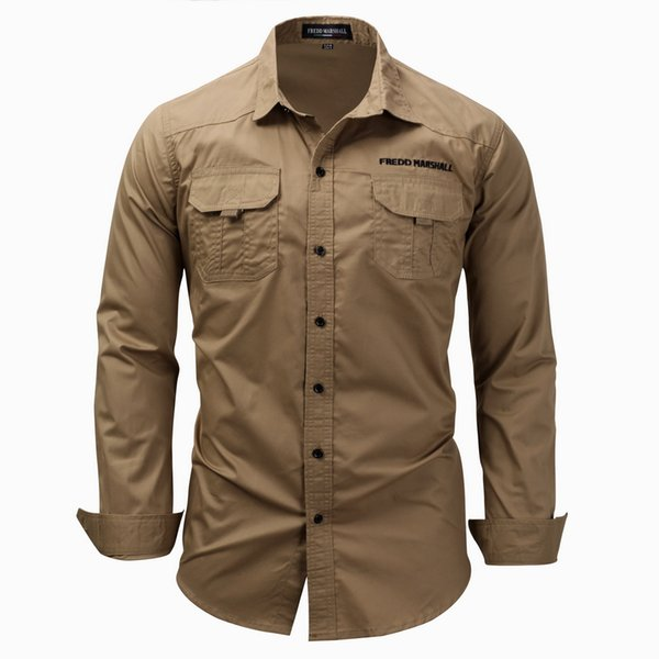 Mens Designer T Shirts Spring Autumn Men Polo Shirts Long Sleeve Casual Outerwear Mens Shirts Open Stitch Tops Clothing 4 Colors M-3XL
