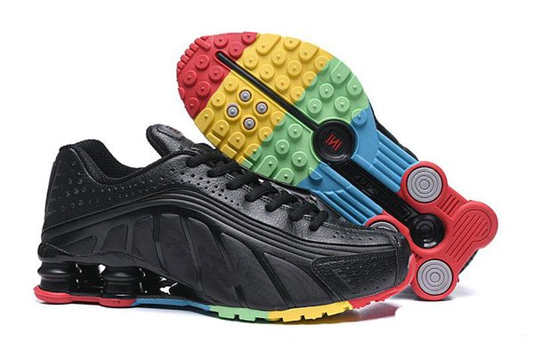 Shox R4 Running Shoes For Men Women Zapatillas Hombre Breathable leather Mens Trainers Designer Athletic Sneakers size 36-46