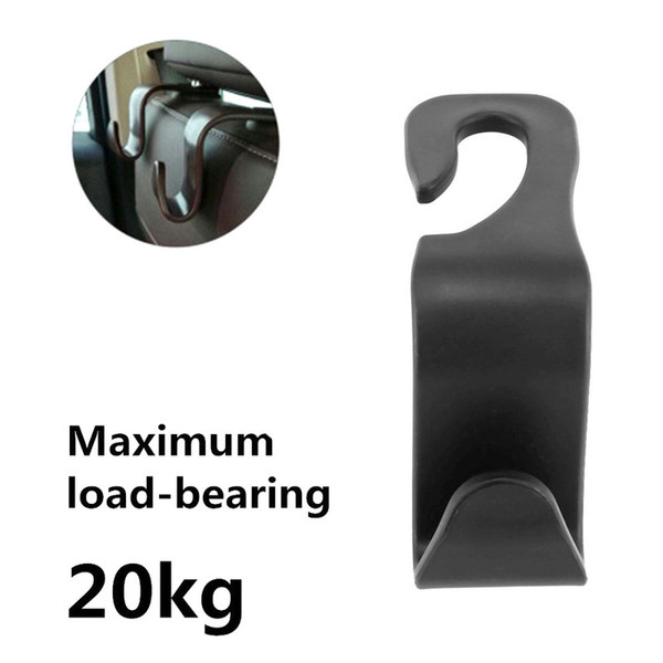 1pc Car Seat Hook Metal Multi-function Auto Headrest Hanger Bag Holder Organizer