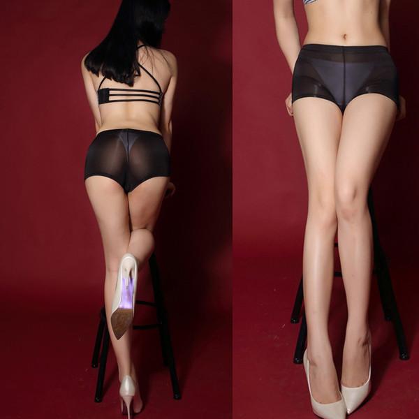 XL Plus Size Thin Ice Silk Transparent Black Booty Shorts Women Hot Mini Short Micro Sexy Short Pink Pole Dance