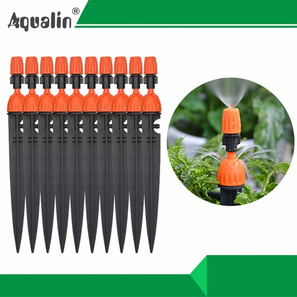 drip 1Lot 10PCS Multifunctional Adjustable 8 Outlets Spray Dripper Sprinklers Watering kits Drip Irrigation System#26301-N