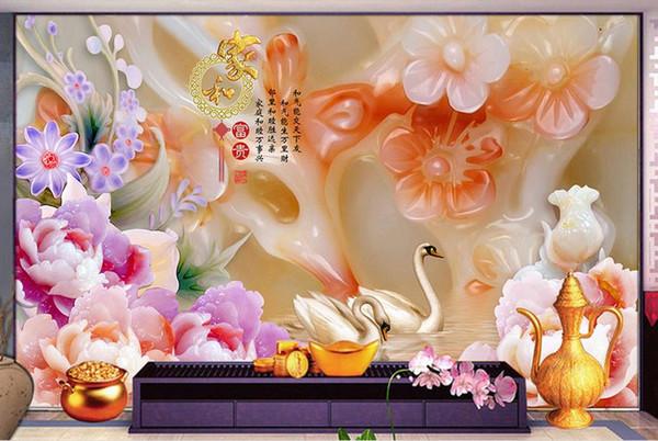 Papier peint photo 3d Papiers peints muraux pour papiers peints de salon Home Deor Chaîne stéréo haute définition originale Chambre à coucher TV Bar Murals Rolls456654y